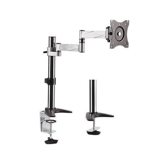 Brateck 13'-27' Single Monitor Desk Mount. Rotate, Extend, Tilt, Swivel