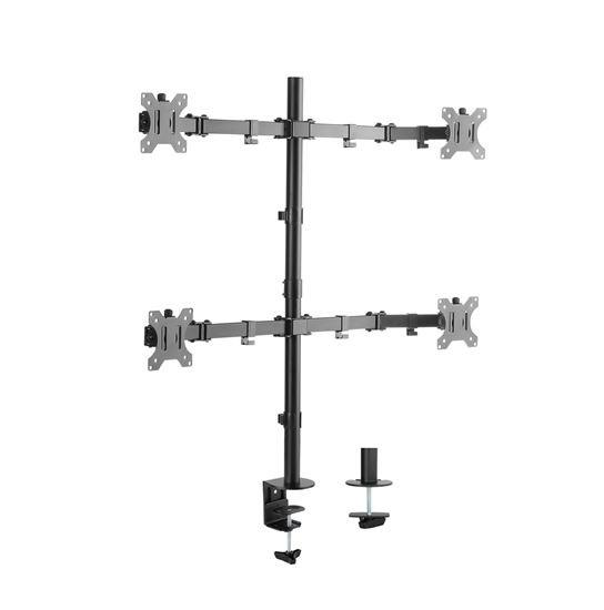 Brateck 17'-32' Quad Monitor Desk Mount. Rotate