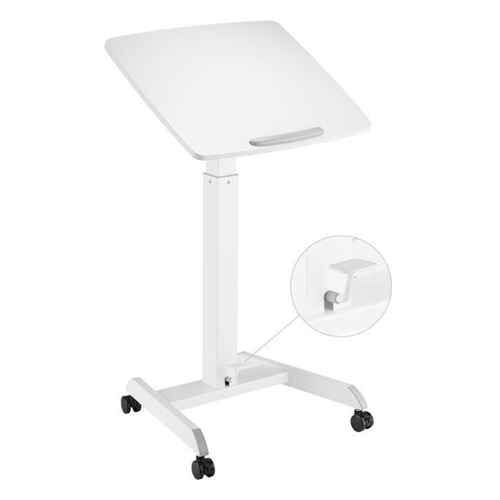 Brateck Height Adjustable Mobile Workstation With Foot Pedal