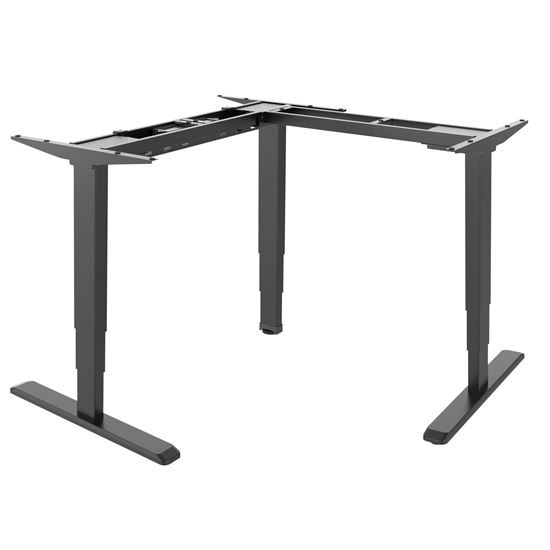 Brateck L-Shape Electric Sit-Stand Desk Frame With Triple Motors