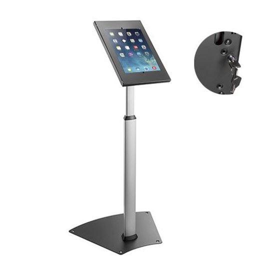 Brateck Anti-Theft Height Adjustable Tablet Kiosk Floor Stand