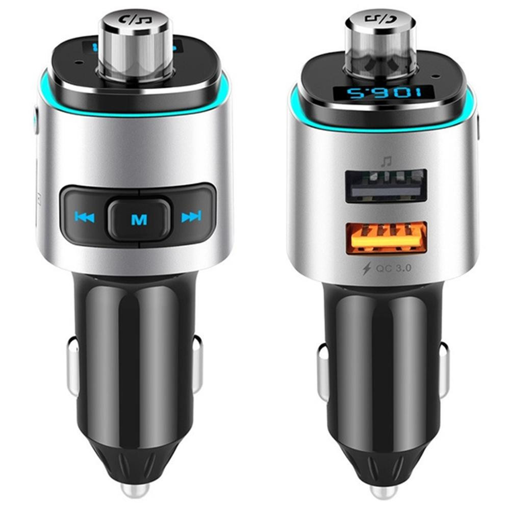 QC3.0 Car Bluetooth MP3 and FM Transmitter Hands-free Voltage Detection