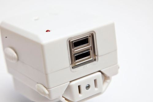Jackson Outbound Travel Adaptor. Includes 2x USB Charging Ports