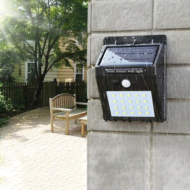 Wall Mount LED Motion Sensor Solar Lights