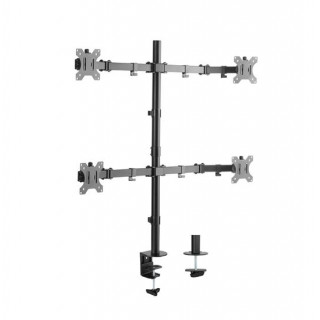 Brateck 17'-32' Quad Monitor Desk Mount. Rotate, Tilt And Swivel