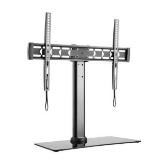 Brateck 32'-55' Glass TV Desk Stand Height Adjustable, Tilt & Rotate