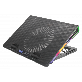 Vertux Gaming Portable Height Adjustable RGB LED Cooling Pad