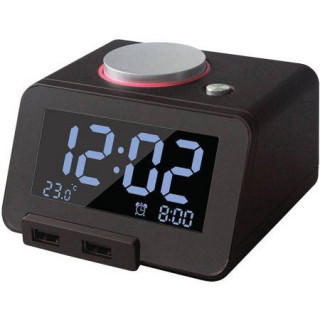Homtime Bluetooth Alarm Clock Speaker With USB Charging