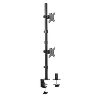 Brateck 13'-32' Dual Vertical Monitor Mount. Rotate