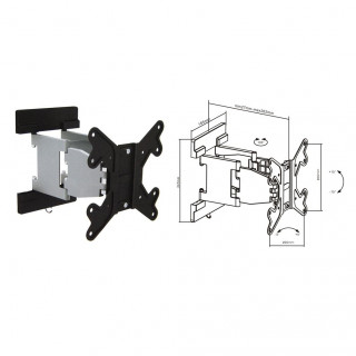 Brateck 23'-42' Articulating Monitor Wall Mount Bracket