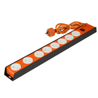 Jackson 8 Outlet Powerboard With Heavy Duty Metal Housing