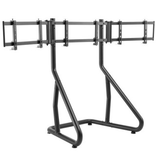 Brateck Gaming Height Adjustable Triple Monitor Stand Designed For