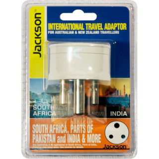 Jackson Outbound Travel Adaptor. Converts NZ/AUS Plugs For Use In