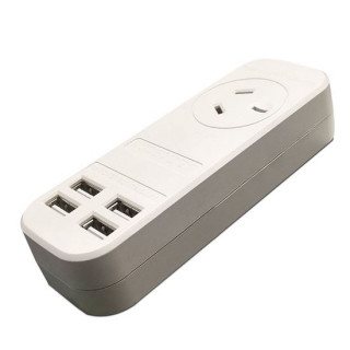 Jackson 1x Outlet Power Board With 4x USB Charging Outlets
