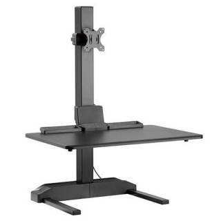 Brateck Electric Sit-Stand Desk Converter With Single Monitor