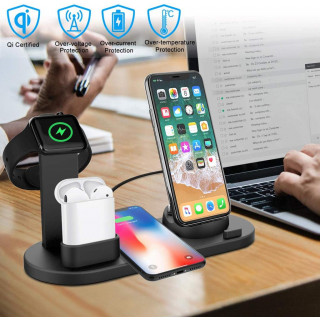 4 in 1 Rotatable Charging Dock with Wireless Charging