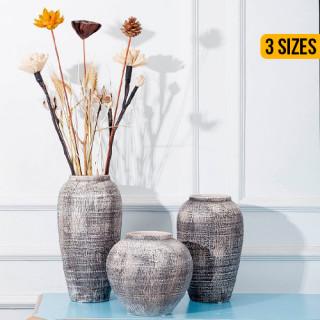 Retro Clay Home Decor Flower Vase