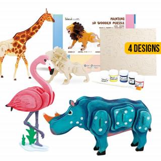 Paint & Build Animal Puzzle