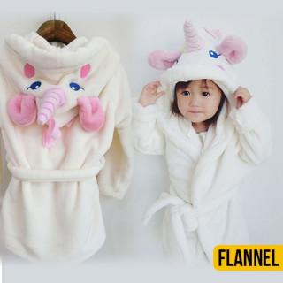 Kids Unicorn Flannel Bathrobe