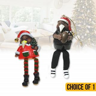 Christmas Kiwi Decorations