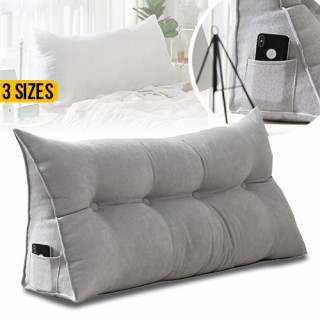 Cotton Linen Triangular Wedge Cushion