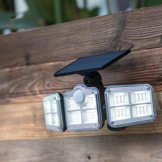 Three Head Motion Sensor Solar Lamp