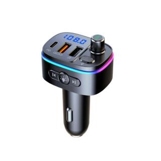 Bluetooth V5.0 FM Transmitter Wireless Radio Adaptor and Car