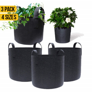 3 Pack Garden Plant Fabric Grow Bags