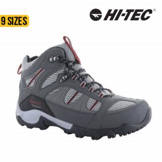 Hi-Tec Bryce II WP Mens Charcoal/Grey/Fire Brick
