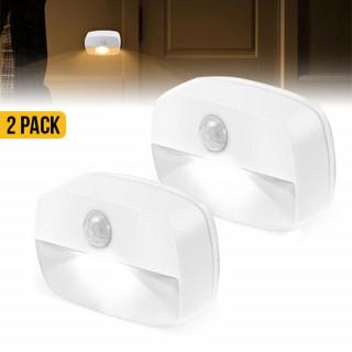 LED Motion Sensor Battery Operated Wireless Wall Closet Lamp Night Light