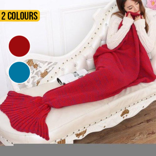 Knitted Mermaid Tail Throw