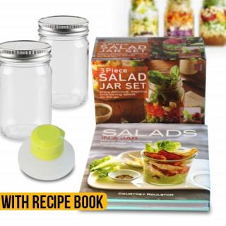 Salads In A Jar Book & Salad Jar Set