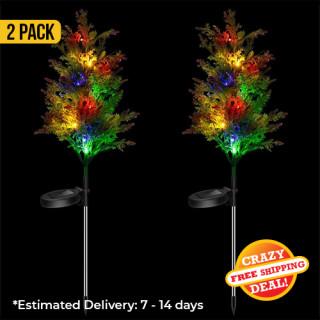Solar Powered Christmas Tree Lights For Garden